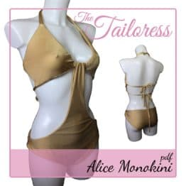 The Tailoress PDF Sewing Patterns - Alice Monokini PDF Sewing Pattern