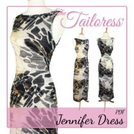 The Tailoress PDF Sewing Patterns - Jennifer Dress PDF Sewing Pattern sizes 4-18