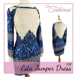The Tailoress PDF Sewing Patterns - Esta Jumper Dress PDF Sewing Pattern