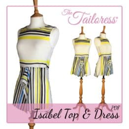 The Tailoress PDF Sewing Patterns - Isabel Handkerchief Top & Dress PDF Sewing Pattern - Adult size