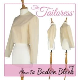 The Tailoress PDF Sewing Patterns - Women's Blocks