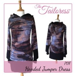 The Tailoress PDF Sewing Patterns - Hooded Jumper Dress PDF Sewing Pattern