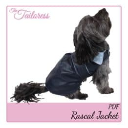 The Tailoress PDF Sewing Patterns - Rascal Pleated Jacket for Dogs PDF Sewing Pattern