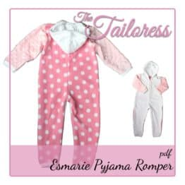 The Tailoress PDF Sewing Patterns - Romper / Sleep Suit Baby Sewing Patterns