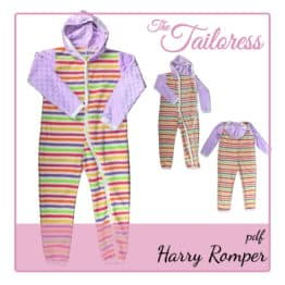 The Tailoress PDF Sewing Patterns - Harry Romper Adaptive Clothing All-in-one for Children PDF Sewing Pattern