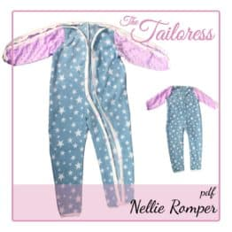 The Tailoress PDF Sewing Patterns - Nellie Romper Adaptive Clothing for Children PDF Sewing Pattern (sizes 3-14 years)