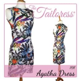 The Tailoress PDF Sewing Patterns - Agatha Layered Wrap Dress PDF Sewing Pattern