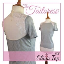 The Tailoress PDF Sewing Patterns - Olivia Open Back Top PDF Sewing Pattern