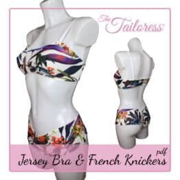 The Tailoress PDF Sewing Patterns - Jersey Bra & French Knickers PDF Sewing Pattern