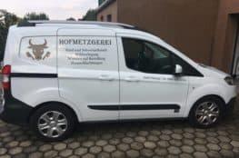Fahrzeug Beschriftung Hofmetzgerei Josef Herzog