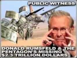 Graphic of Donald Rumsfeld and the Pentagon Missing Trillions
