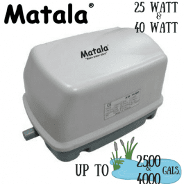 Matala-Hakko 25 and 40 watt pond air pumps