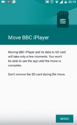 showing move button