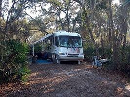 Typical campsite at Oscar Scherer State Park