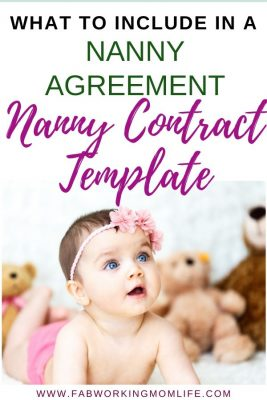 Nanny Contract Template - what to include in your nanny agreement