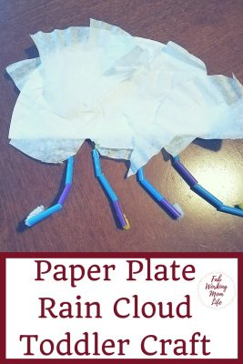 Paper Plate Rain Cloud Craft for Toddlers and Preschoolers. #toddler #preschooler #toddlercraft #toddleractivity
