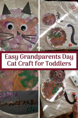 Easy Grandparents Day Cat Craft for Toddlers | Fab Working Mom Life