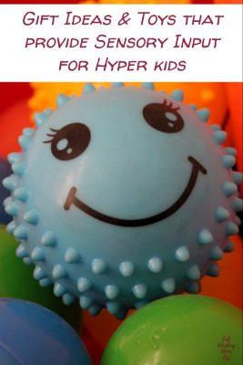 Toys that provide Sensory Input for Hyper kids | Fab Working Mom Life #sensory #giftideas #giftguide #adhd #vestibular #proproceptive