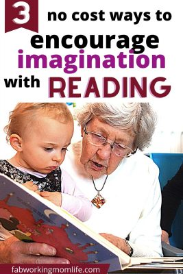 encourage imagination with reading