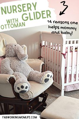 how a nursery glider with ottoman helps mommy and baby