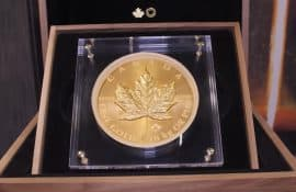 Gold, Goldmünze, Maple Leaf, 1 Kilo