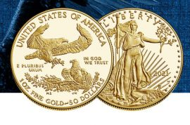 Gold, Goldmünzen, American Eagle