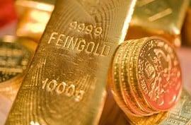 Goldbarren, Goldmünzen, Goldmarkt