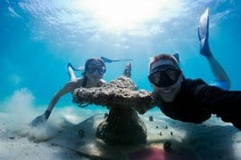 An artificial reef along the snorkel trail at Phil Foster Park in Palm Beach County.