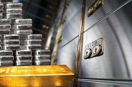 Silber, Gold, Lagerung