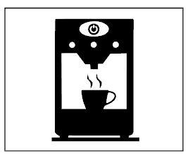 keukensticker koffieapparaat