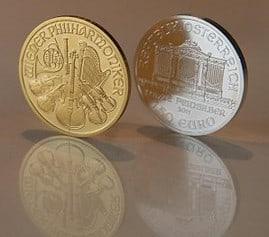 Goldpreis, Silberpreis, Goldmünze, Silbermünze (Foto: Goldreporter)