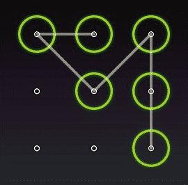 image showing phone lock pattern