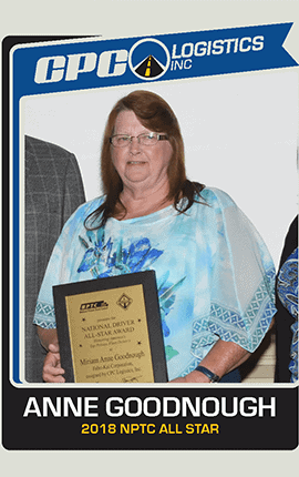 Anne Goodnough | Class A CDL Driver All Star Assigned to Fabri Kal in Piedmont SC