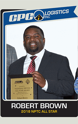 Robert Brown-Class A CDl Driver All Star Assigned to Moen Inc in Kinston NC
