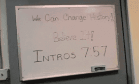 The message to make history from a white board in the Red Sox Clubhouse