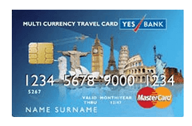 yes bank multi currency travel