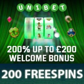 Current promotions and bonuses at Unibet Casino: