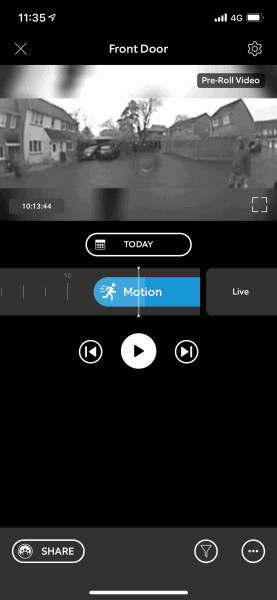 Ring Video Doorbell 3 Plus and Spotlight Cam Review - iOS App Video Sample with Pre-roll