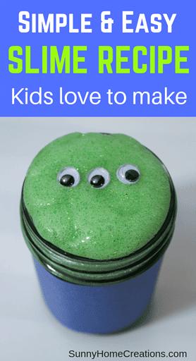 Simple & Easy slime recipe kids love to make