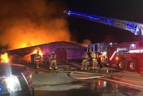 Maffitt Lake Equestrian Center Barn Fire Total Loss