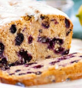 Whole Wheat Lemon Blueberry Bread - One of my favorites