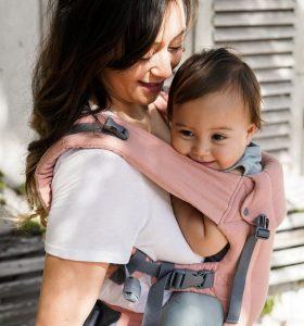 Beco Gemini Linen Baby Carrier - Pink