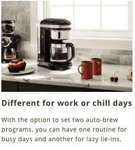 KitchenAid Spiral Showerhead Drip Coffee Maker