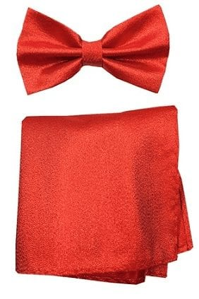 Metallic Lame Gold Bowtie with Matching Pocket Square Set