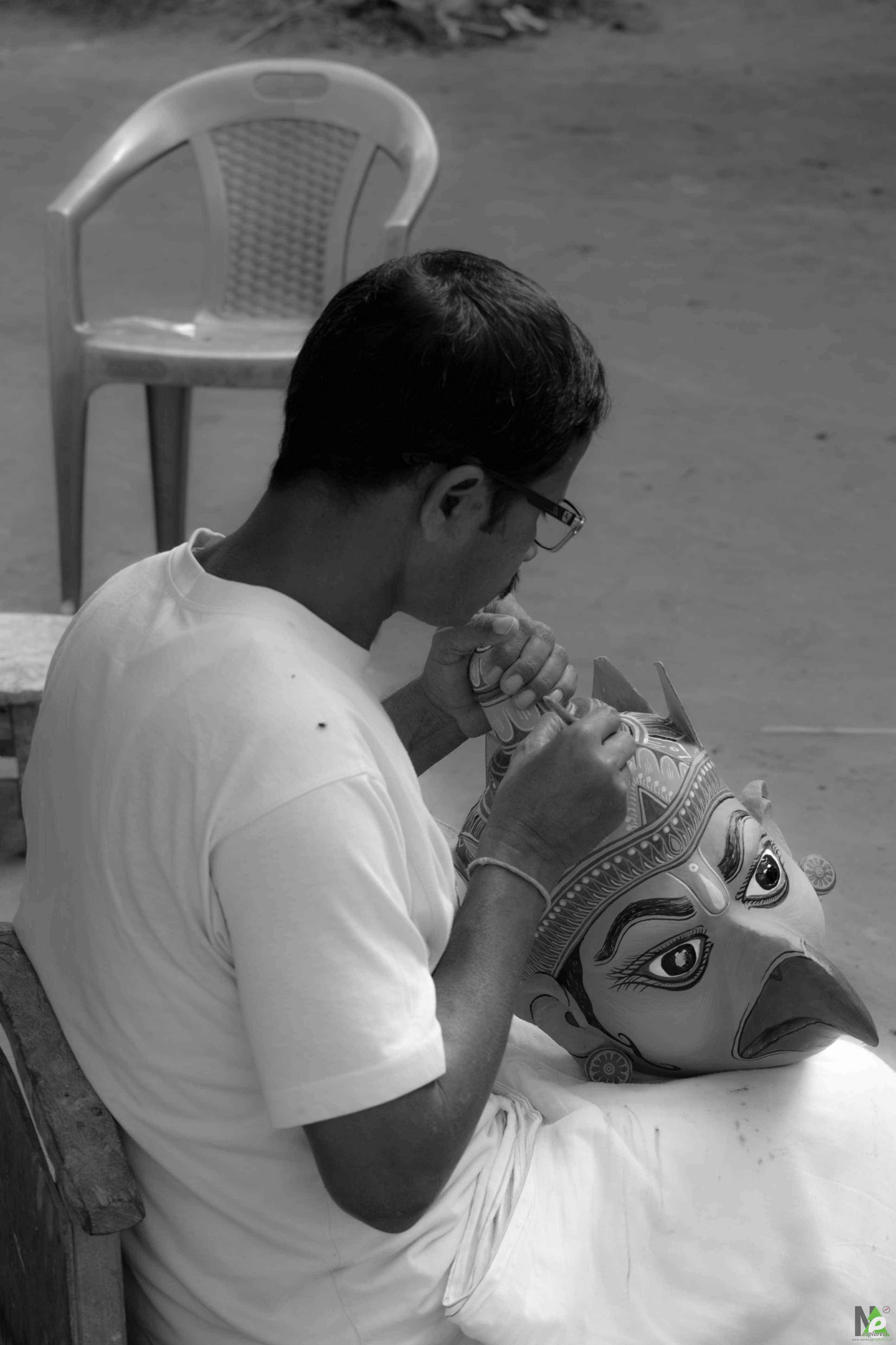 Maskmaking in Majuli