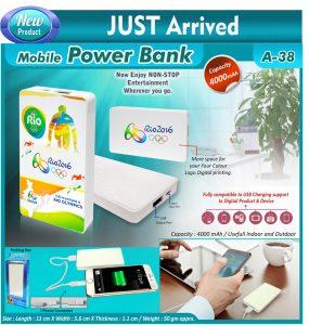 Power Bank A38 - 4000mah