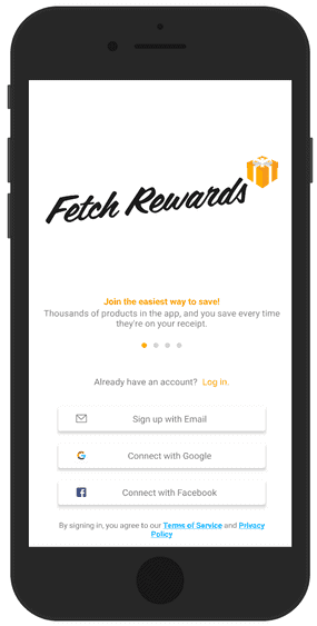 Fetch Rewards Sign Up Screen