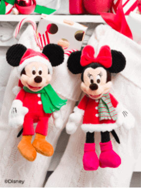 Scentsy christmas mickey and minnie buddy clips