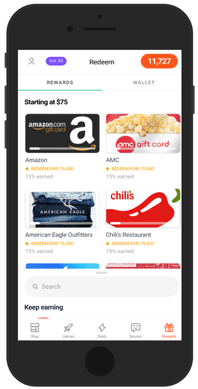 Drop app redeem points for gift cards