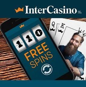 InterCasino - 110 free spins NDB plus €300 welcome bonus